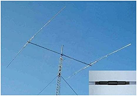 Yagi antena 2 elementos banda 40 MHz, 7 m boom 4,8 m 3,5 dB ...