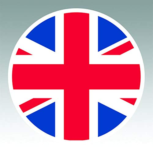 Round Union Jack Sticker Premium Decal Die Cut UK British United Kingdom England Flag