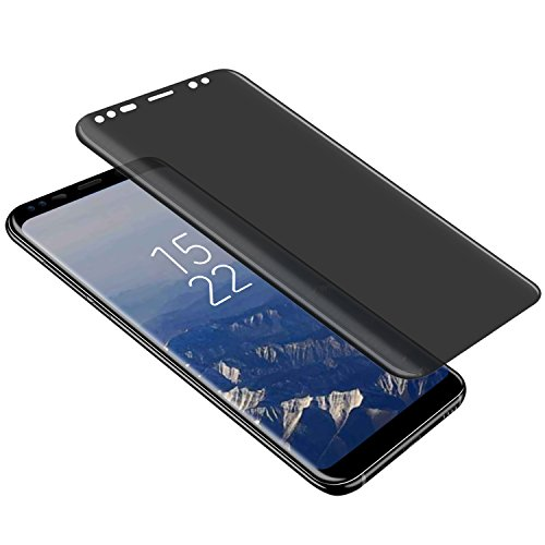 Galaxy S8 Privacy Screen Protector  Top Glass S8 Premium  3D Curved   Case Friendly   Anti Scratch  9H Hardness Tempered Glass Film Screen Protector For Samsung Galaxy S8  Transparent