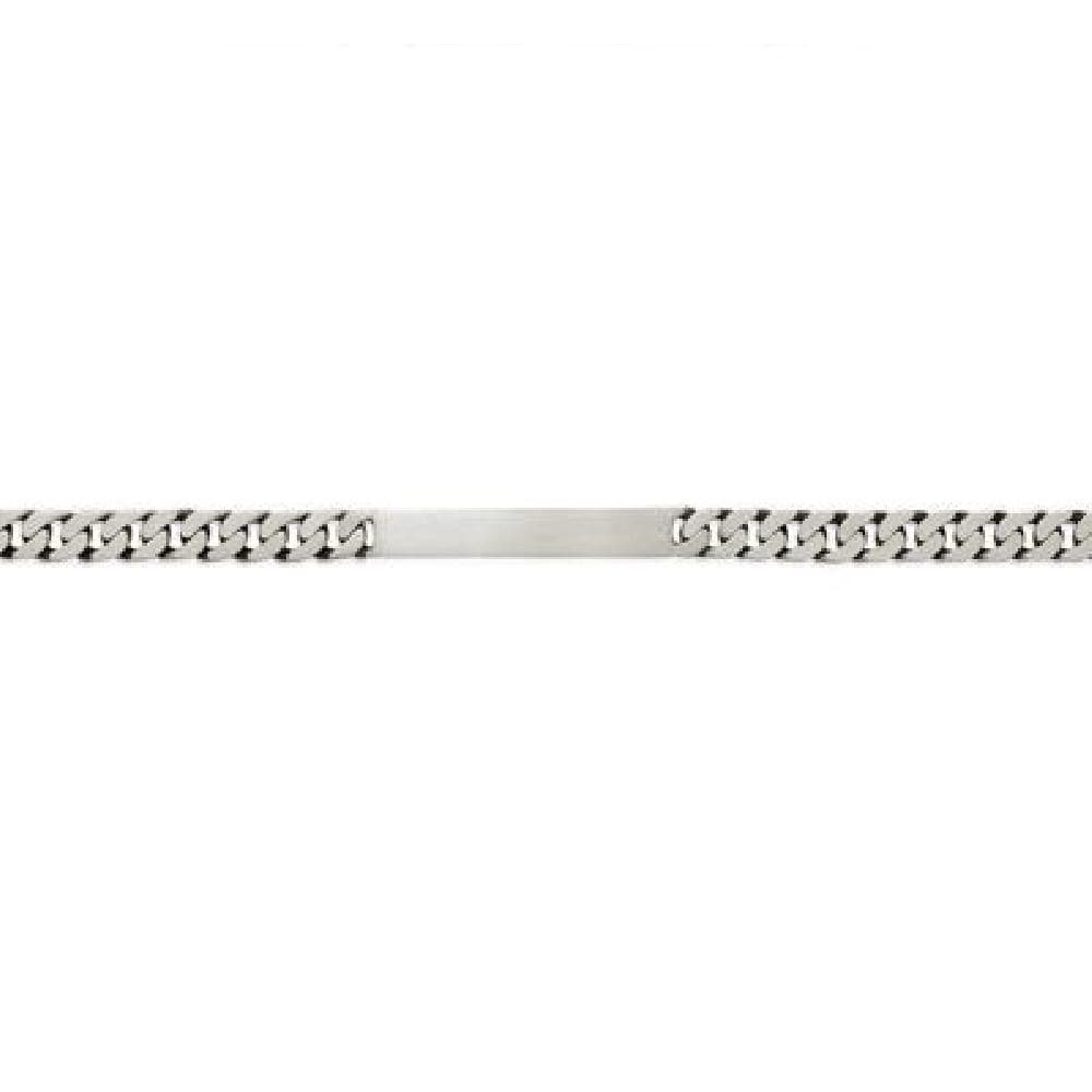 So Chic Jewels - Antique 925 Sterling Silver 20 cm Chain 6 mm Name Bracelet - Customisable: Your Message Engraved Free