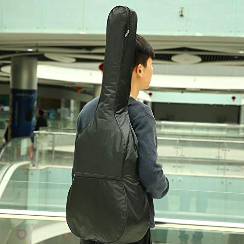 Nero 41 pollici Custodia per chitarra Custodia morbida per chitarra acustica in nylon 420D impermeabile da 42 pollici con custodia rigida