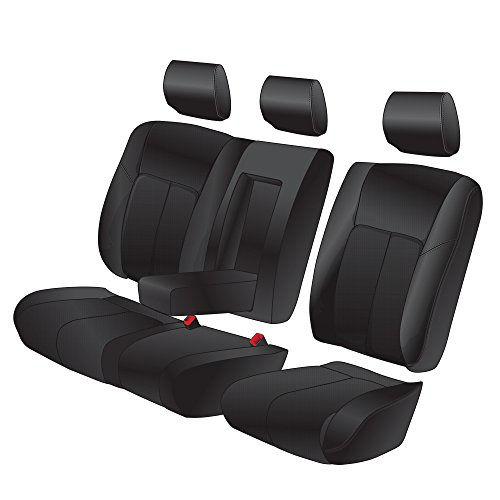Clazzio 203012blk Black Leather Front And Rear Row Seat