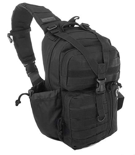 Nexpak USA TL318BK Black Tactical Molle 2L Hydration Ready Sling Shoulder Strap Bag