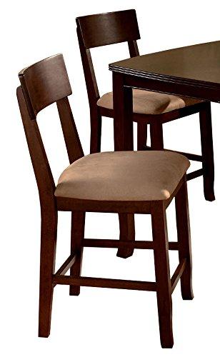 Wallace Dark Walnut Counter Chairs (set Of 2)