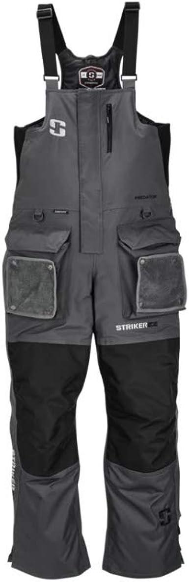 STRIKER ICE PREDATOR SZ  LARGE black//GRAY BIBS