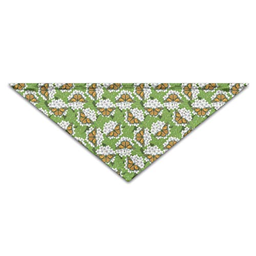 OLOSARO Dog Bandana Monarch Butterflies Triangle Bibs Scarf Accessories for Dogs Cats Pets Animals ()
