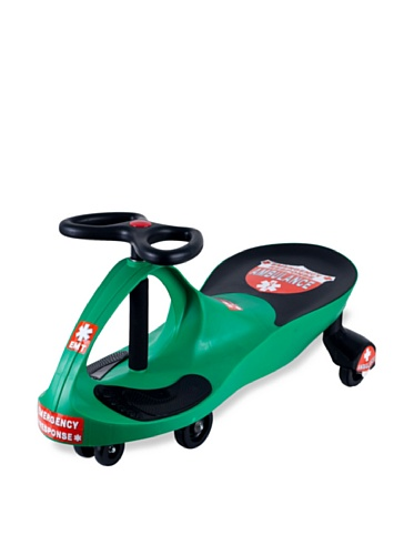 Ambulance Wiggle Car Ride On Toy – No Batteries, Gears or Pedals – Twist, Swivel, Go – Outdoor Ride Ons for Kids 3 Years and Up by Lil' Rider (Green)