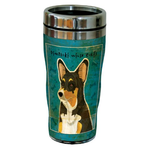 (Tree-Free Greetings sg24043 Tri-color Pembroke Welsh Corgi by John W. Golden 16-Ounce Sip 'N Go Stainless Steel Lined Travel Tumbler)