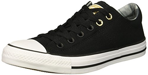 Converse Women's Chuck Taylor All Star Madison Low Top Sneaker, White/Black, 5 M US -