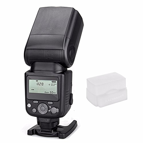 Meike MK-930 II LCD GN58 Flash Speedlite for Sony MI Hotshoe Camera A7 A7R A7S A7 II A7R II A7S II A6300 A6000 with EACHSHOT White Diffuser