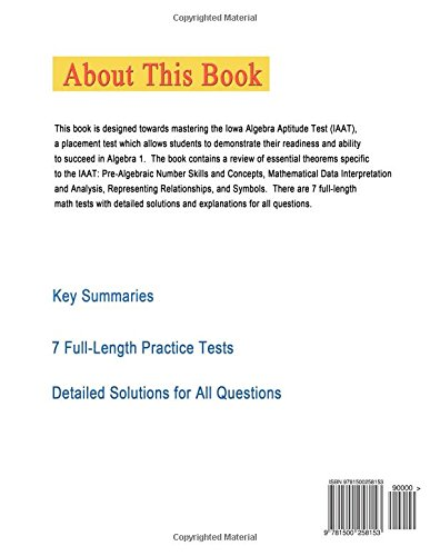 Solomon Academy's IAAT Practice Tests: Practice Tests for IOWA ...