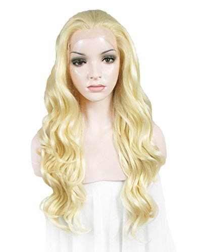 Imstyle Custom Hairstyle Wig Long Body Wavy Synthetic Blonde Heat Resistant Lace Front Wig