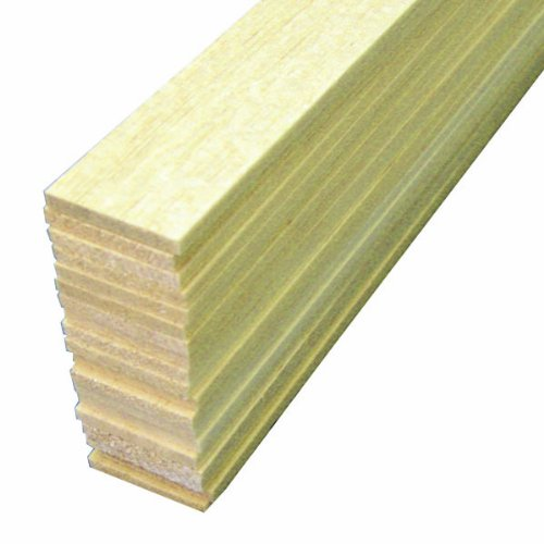 Midwest Products 6104 Micro-Cut Quality Balsa 36-Inch Sheet Bundle, 0.125 x 1 Inches