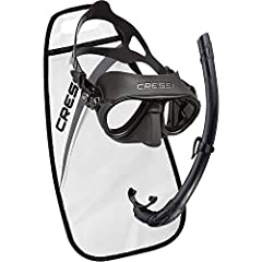 Cressi Calibro Mask Paired with the best selling Corsica Snorkel Calibro Mask Cressi's next generation diving masks are all equipped with the IDF-INTEGRATED DUAL FRAME TECHNOLOGY which offers exceptional field of view and the new Calibro is n...