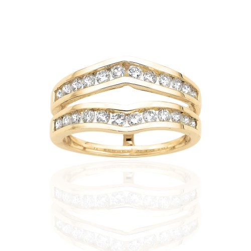 Diamond Ring Guard in 14K Yell