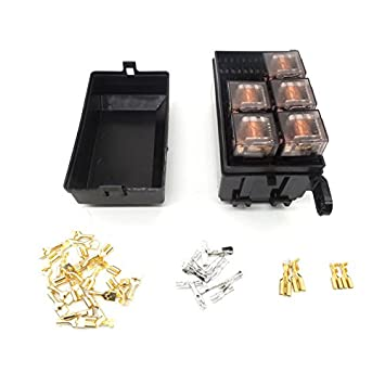 41gDHPTQLFL._SY355_ amazon com auto fuse box 6 relay relay holder 5 road the nacelle automotive fuse box with relay at fashall.co