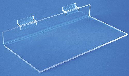 Straight Slatwall Shelves - Qty of 4 (Z126N - 1-1/2''H x 12''W x 6''D) by Choice Acrylic Displays