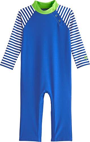 Coolibar UPF 50+ Baby Beach One-Piece Swimsuit - Sun Protective (12-18 Months- Baja Blue)