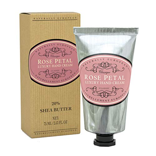 Naturally European ROSE PETAL Luxury Hand Cream Boxed 20% Shea Butter 75ml ()