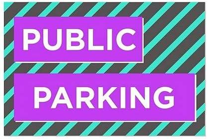 Modern Block Window Cling 36x24 Public Parking CGSignLab