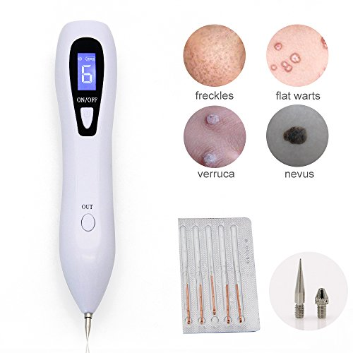 Price comparison product image Mole Skin Tag Removal Pen,Mole Removal Pen Kit for Face Body,Newest 6-Gears Spot Eraser Pro Removing Facial Tag Nevus Freckles Warts Dark Tattoo Dot Not Bleeding Mole Remover Beauty Skin Machine