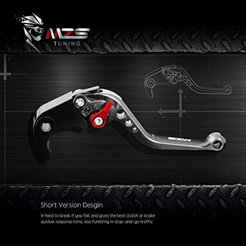 MZS Short Levers Brake Clutch Adjustment CNC compatible Honda CBR 1000RR CBR1000RR Fireblade SC57 2004-2007// CB1000R 2008-2016 Blue