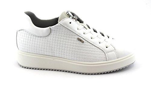 IGI de 1148644 Bianco Deportes amp;Co Blancos Zapatos Cordones Deporte Zapatillas de de Las Cuero wHwCq