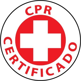 NMC HH39 2'' x 2'' PS Vinyl Hard Hat Emblem w/Legend: ''CPR Certificado'', 12 Packs of 25 pcs