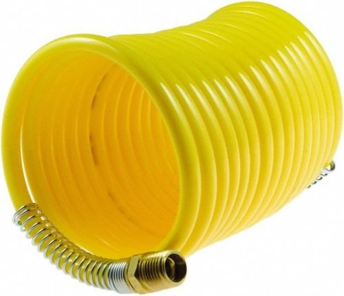 Yellow 200 PSI Recoil Air Hose 3/8'' x 25' With 1/4'' Male NPT Swivel End Fittings