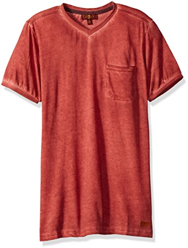 7 For All Mankind Boys' Little Short Sleeve T-Shirt, Garnet, 5 7 For All Mankind Shirts