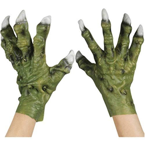 Loftus International Star Power Monster Hands with Thick Fingers Gloves, Green, One-Size Novelty Item -