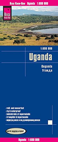 Uganda Road Map : 2017 Edition (English, Spanish, French, German and Russian Edition)