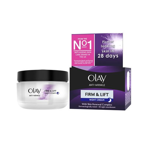 Olay Anti-Wrinkle Firm and Lift Night Cream for 40+, 1.7 Ounce