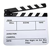 Andoer Acrylic Clapboard Dry Erase Director Film Movie Clapper Board Slate 9.6 11.7