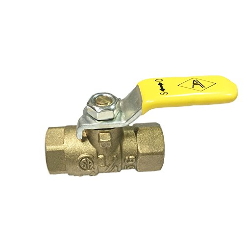 NIGO 240SS Series Forged Brass Mini Gas Ball Valve, CSA Certified, Lever Handle, NPT Female, Standard Port 600WOG (1/4
