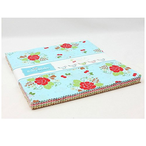 Sew Cherry 2 - Layer Cake by Lori Holt for Riley Blake Fabrics - 42 - 10''x10'' Fabric Quilting Squares by Riley Blake Fabrics