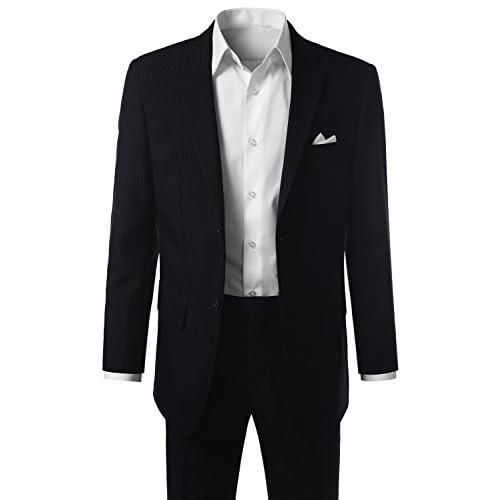 91b67727449ed 80%OFF MONDAYSUIT Men s Modern Fit Striped 2-Piece Suit Blazer   Trousers