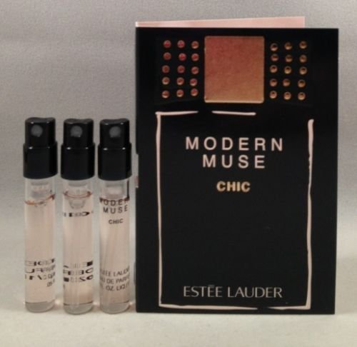 3 Estee Lauder Modern Muse Chic EDP Spray Sample Travel Vial .05 Oz/1.5 Ml Each