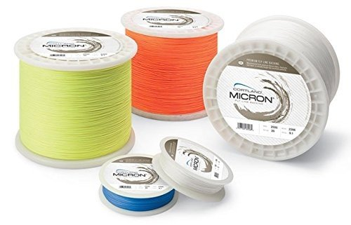 Cortland Fly Line Backing, MICRON, 20 lb Test, HI-VIS ORANGE - 100, 150, 200, 250, 300, 400, 600 up to 2,500 yd (100 yards)