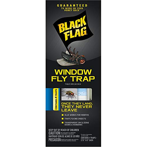Black Flag Window Fly Trap, 4-Count, 24-Pack