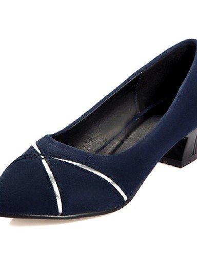 GGX/ Damen-High Heels-Büro / Lässig-Vlies-Blockabsatz-Absätze / Spitzschuh-Schwarz / Blau / Burgund / Pfirsich blue-us9 / eu40 / uk7 / cn41