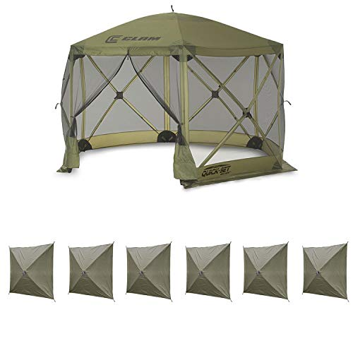 (Clam Quick Set Escape Portable Canopy Shelter + Wind & Sun Panels (6 Pack) )