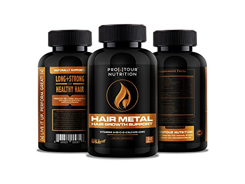 Hair Growth Vitamins - Natural Formula For Longer, Stronger, Healthier Hair - Scientifically Made with Biotin, B Vitamins, Bamboo & More - For All Hair Types - 30 Tablets