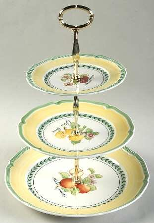 Villeroy U0026 Boch French Garden Valence 3 Tiered Serving Tray (DP, SP,