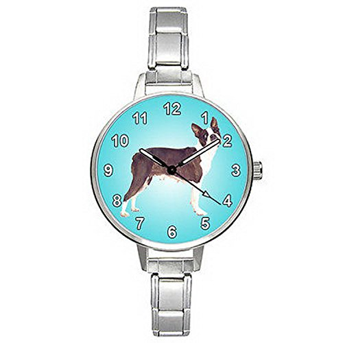 leddawanshop BMTC374 Boston Terrier Dog Stainless Steel I...