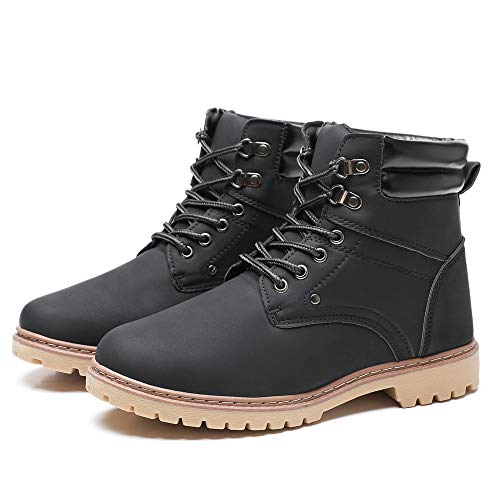DRKA Men's Soft Toe Work Boots,Waterproof Industrial and Construction Working Shoes(18952-blk-40) Blk Soft Toe Boot