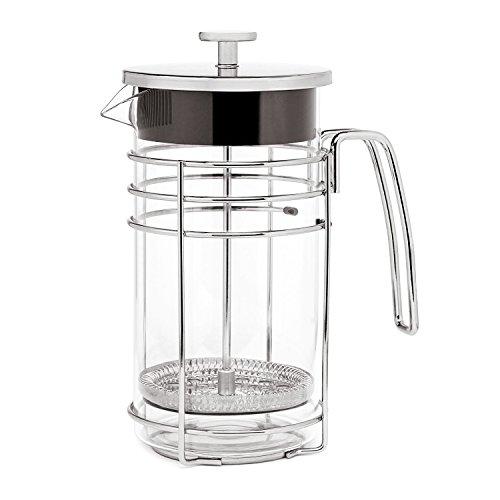 Small Tea Press (Lsydnfow French Press Coffee Maker 21oz Portable Glass Cafetiere, Small Coffee Press Tea Pot)