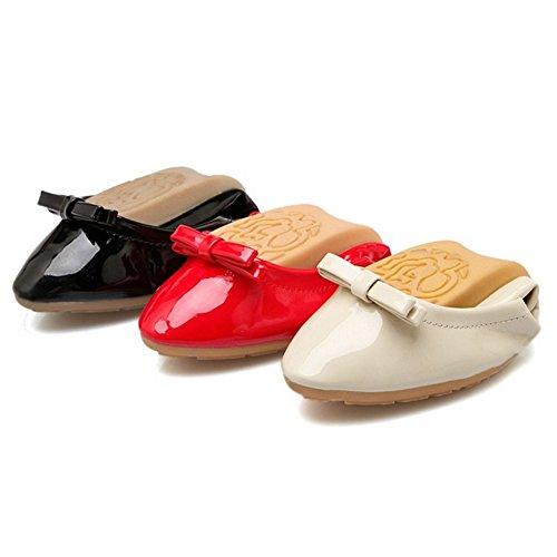 Mujer Black RAZAMAZA Puntiagudos Para Zapatos gwwvI7qxt