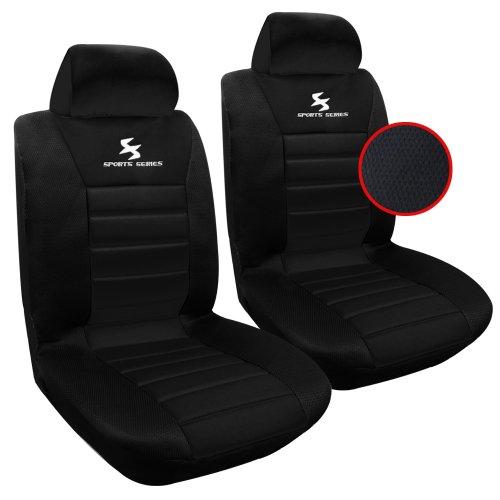 WOLTU AS7254-2 Universele Autostoelhoes voor 2 stoelen, Zwart