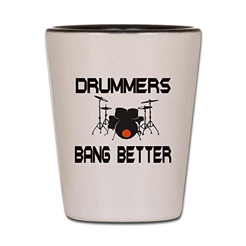 CafePress - Drummers Bang Shot Glass - Shot Glass, Unique an